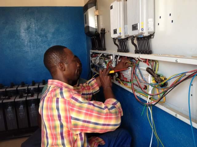 Zakarie: il nostro capo elettricista