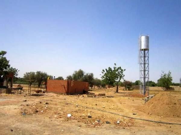 Serbatoio dell'acqua installato