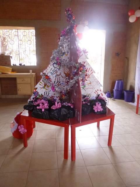 l'albero decorato ...