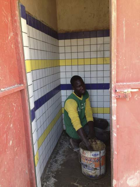 interno toilette dei bambini